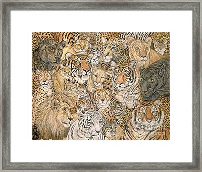 Wild Cat Spread Framed Print by Ditz