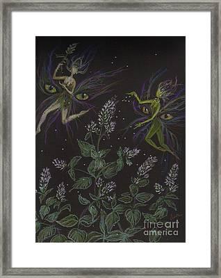 Wild Catnip Framed Print by Dawn Fairies