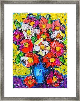 Wild Colorful Flowers Framed Print by Ana Maria Edulescu