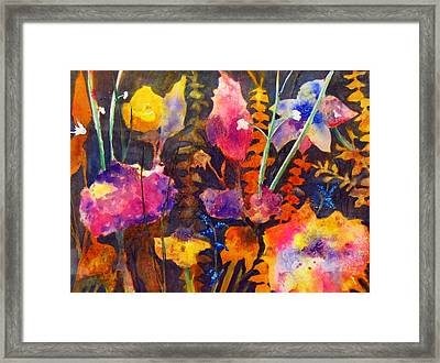 Wild Cottage Garden Framed Print by Henny Dagenais