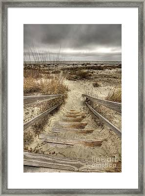 Wild Dunes Beach South Carolina Framed Print by Dustin K Ryan