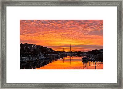 Wild Dunes Sunset Isle Of Palms Framed Print