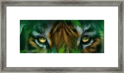 Wild Eyes - Bengal Tiger Framed Print by Carol Cavalaris