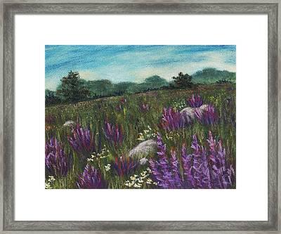 Wild Flower Field Framed Print by Anastasiya Malakhova