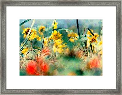 Framed Print featuring the photograph Wild Flower Floral Lower Garden District New Orleans La Usa by Michael Hoard