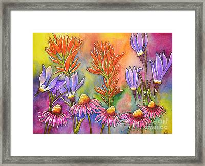Wild Flower Memories Framed Print by Dion Dior