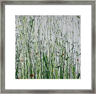 Wild Flowers And  Grasses No 4 Framed Print by Mike   Bell