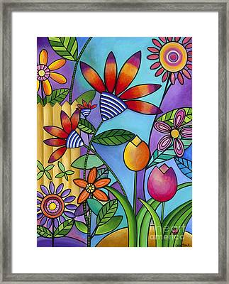 Wild Flowers Framed Print by Carla Bank