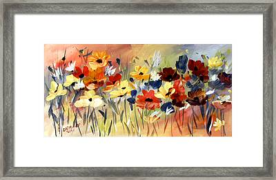 Framed Print featuring the painting Wild Flowers by Dorothy Maier