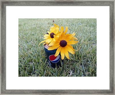 Wild Flowers Framed Print by Jenna Mengersen