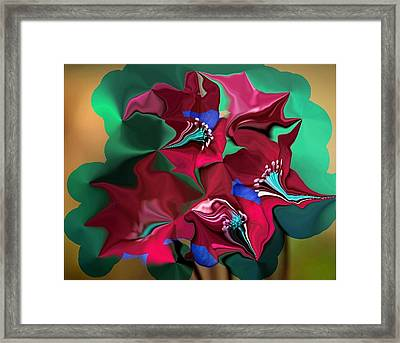 Framed Print featuring the digital art Wild Flowers by Mary M Collins
