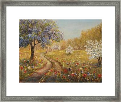 Wild Garden Path Framed Print