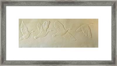 Wild Geese Framed Print by Deborah Dendler