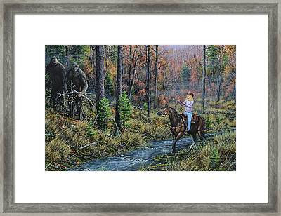 Wild Heart Encounter Framed Print