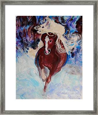 Wild Heart Running Framed Print