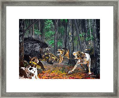 Wild Hog Hunt Framed Print by Alvin Hepler