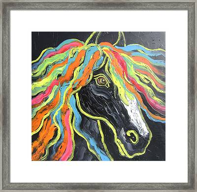 Wild Horse Framed Print by Isabelle Gervais