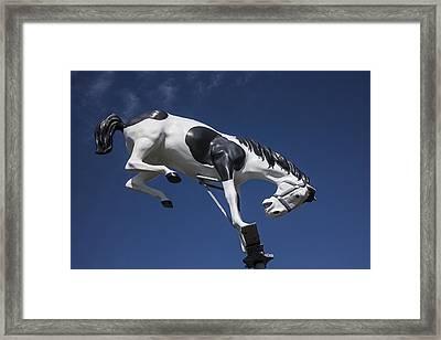 Wild Horse Statue Framed Print