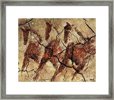 Wild Horses - Cave Art Framed Print