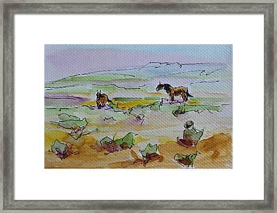 Wild Horses Framed Print by Karen McLain