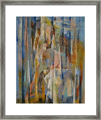 Wild Horses Abstract Framed Print