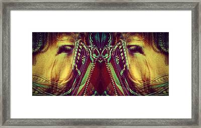 Twins - Wild Horses Series Framed Print by TelAvivPaparazzi Photography