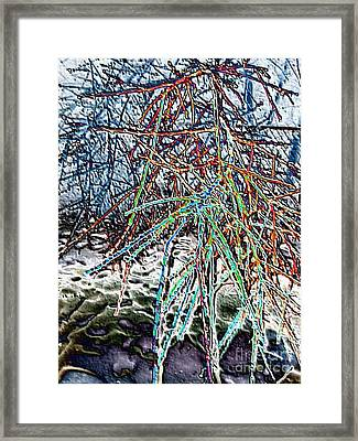 Wild Ice Abstract Framed Print by Minding My  Visions by Adri and Ray