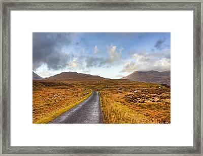 Wild Landscape Of Connemara Ireland Framed Print by Mark Tisdale