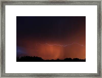 Framed Print featuring the photograph Wild Lightning by Ryan Crouse