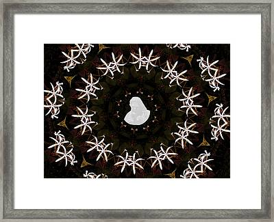 Wild Lily Kalidescope Framed Print by Rosalie Scanlon