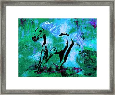 Wild Midnight Framed Print by Nan Bilden