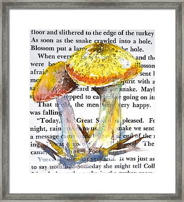 Wild Mushrooms Framed Print by Beverley Harper Tinsley