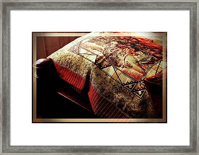 Wild Mustangs On A Quilt Framed Print by Barbara Griffin