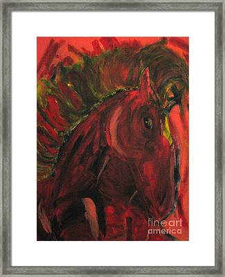 Framed Print featuring the painting Wild N' Free by Wendy Coulson