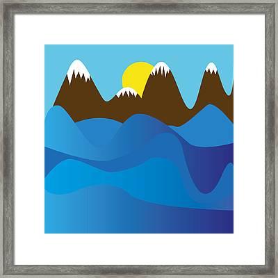 Wild Ocean Framed Print by Kenneth Feliciano