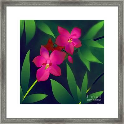 Framed Print featuring the digital art Wild Orchids by Latha Gokuldas Panicker