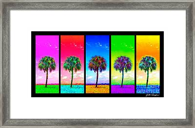 Wild Palms X5 Framed Print