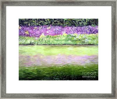 Framed Print featuring the painting Wild Phlox by Anna-maria Dickinson