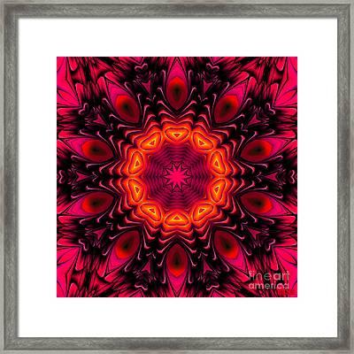 Framed Print featuring the digital art Wild Pink by Hanza Turgul