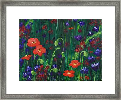 Wild Poppies Framed Print