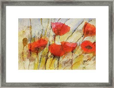 Wild Poppies Framed Print by Lutz Baar