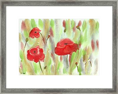 Wild Poppies Framed Print by Tracey Williams