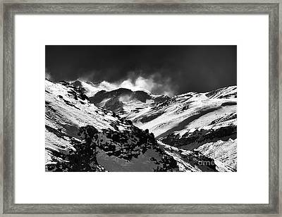 Wild Ride In The Andes Framed Print by John Rizzuto
