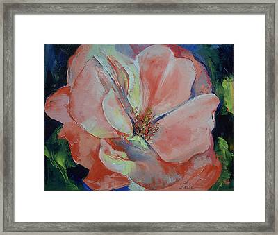 Wild Rose Framed Print by Michael Creese