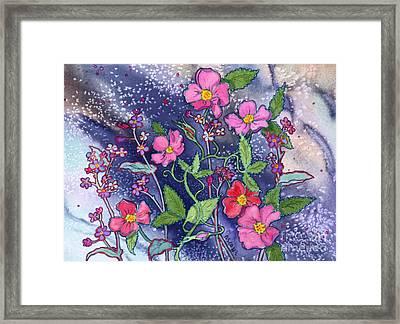 Wild Roses Framed Print by Teresa Ascone