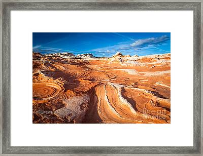 Wild Sandstone Landscape Framed Print by Inge Johnsson
