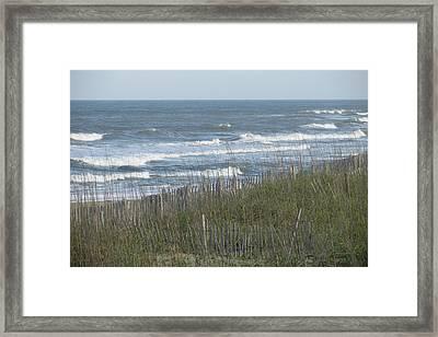 Wild Sea Framed Print by Cheryl Smith
