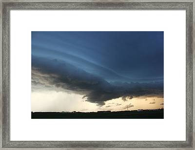 Framed Print featuring the photograph Wild Shelf Cloud by Ryan Crouse