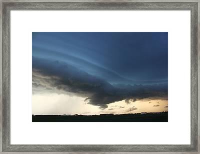 Wild Shelf Cloud Framed Print
