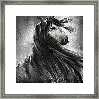 Wild Soul- Fine Art Horse Artwork Framed Print by Lourry Legarde
